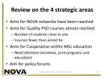 review on the 4 strategic areas