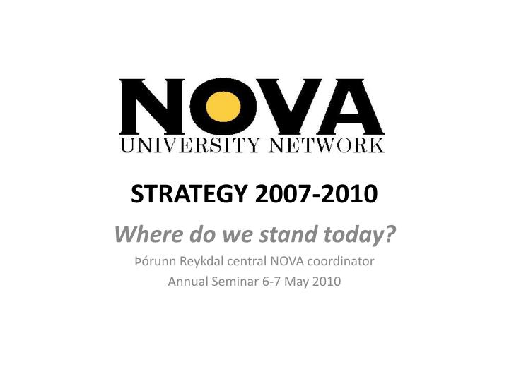 Strategy 2007 2010