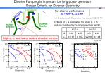 divertor pumping is important for long pulse operation design criteria for divertor geometry