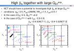 high n together with large q dt equ