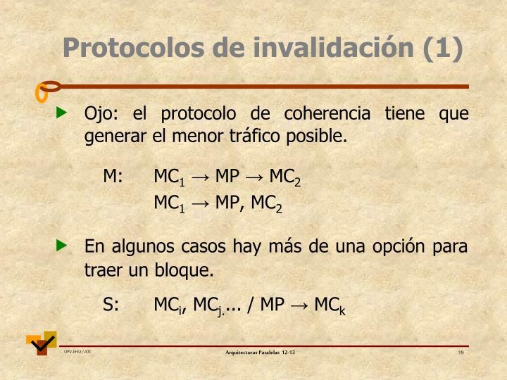 Protocolos de invalidación (1)