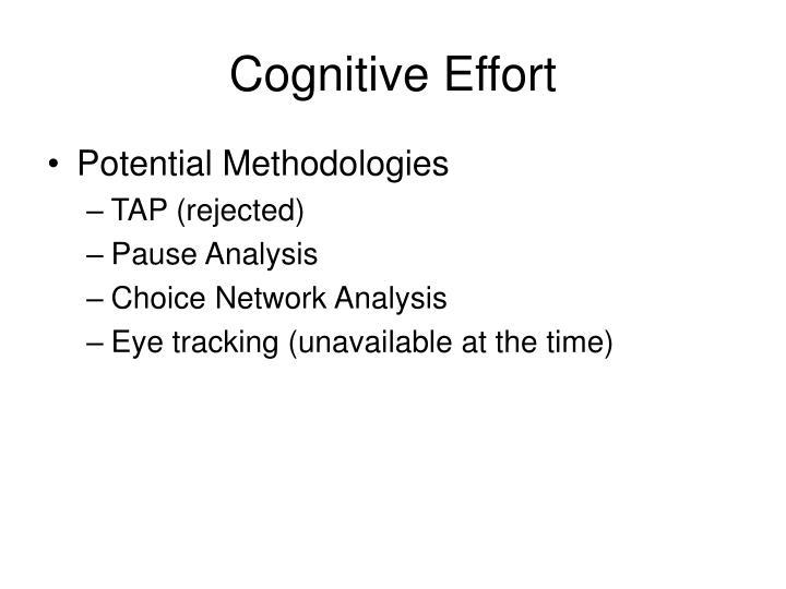 Cognitive Effort