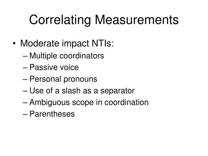Correlating Measurements