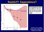 redshift dependence