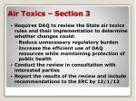air toxics section 3