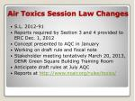 air toxics session law changes