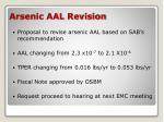 arsenic aal revision