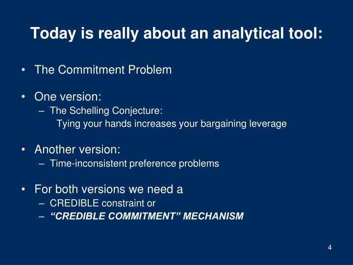 Today is really about an analytical tool: