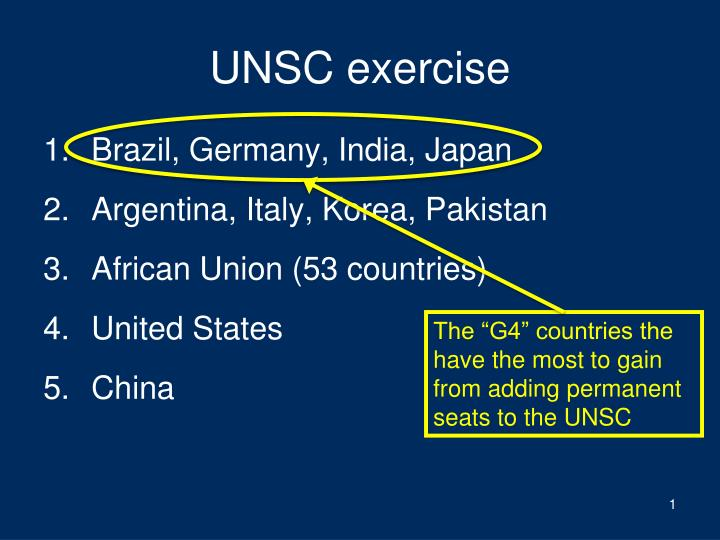 UNSC exercise
