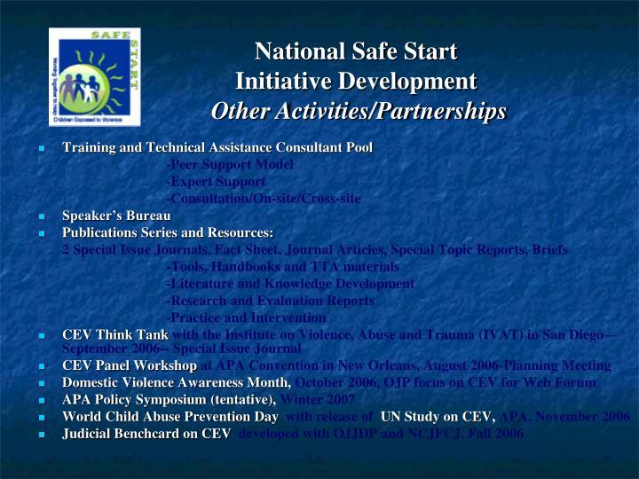 National Safe Start