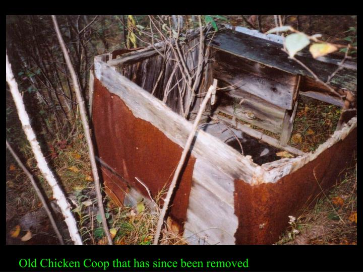 Old Chicken Coop that has since been removed