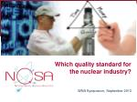 which quality standard for the nuclear industry