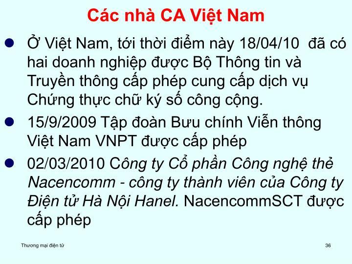 Các nhà CA Việt Nam