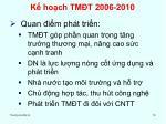 k ho ch tm t 2006 2010