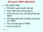 k ho ch tm t 2006 20102
