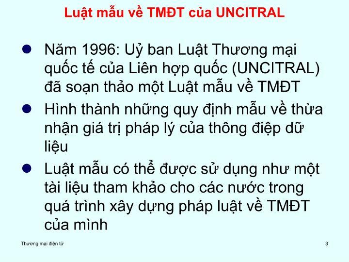 Luật mẫu về TMĐT của UNCITRAL