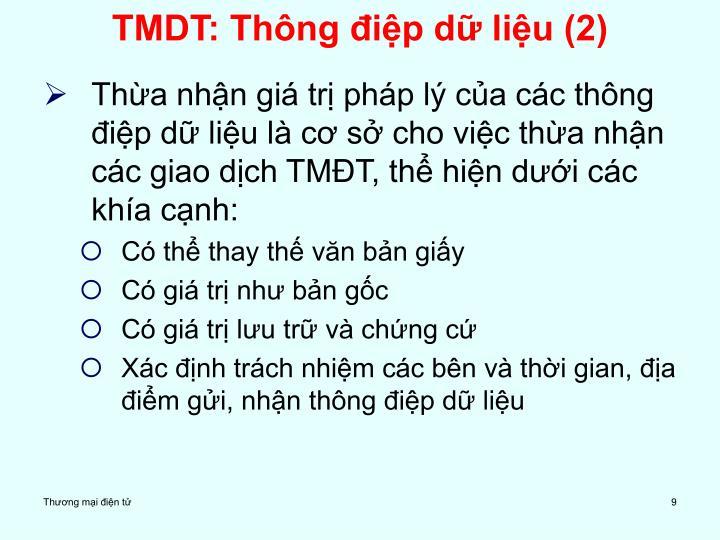 TMDT: Thông điệp dữ liệu (2)