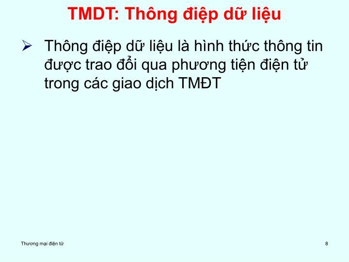 TMDT: Thông điệp dữ liệu