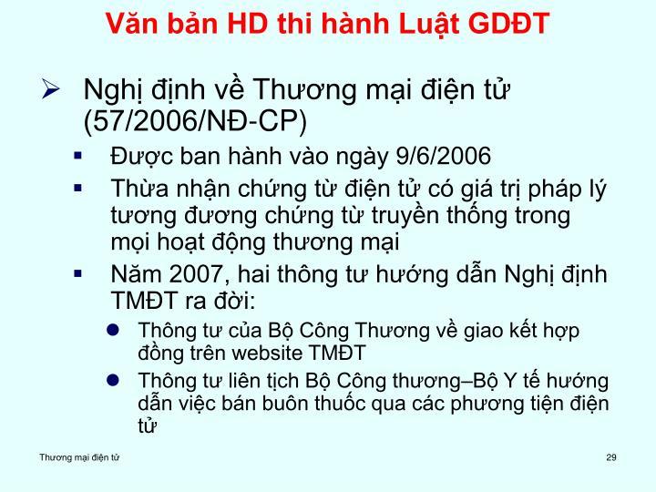 Văn bản HD thi hành Luật GDĐT