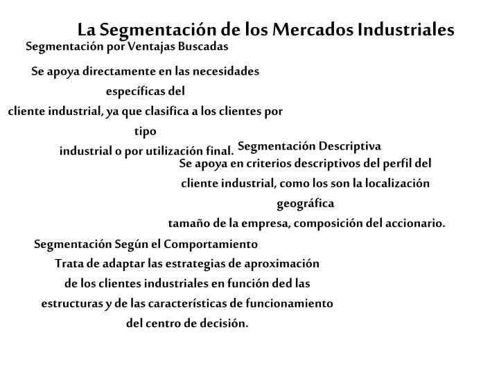 Segmentación Descriptiva
