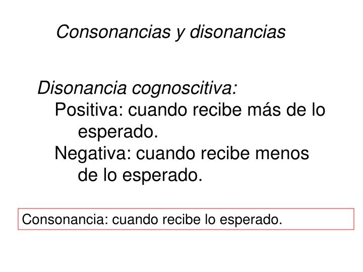 Consonancias y disonancias