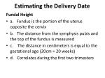 estimating the delivery date1