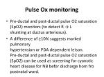 pulse ox monitoring