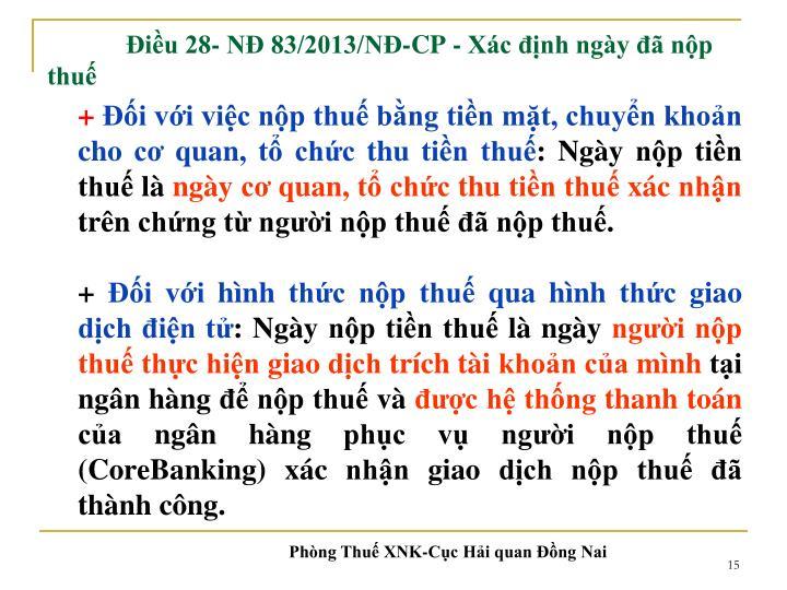 Điều 28- NĐ 83/2013/NĐ-CP -