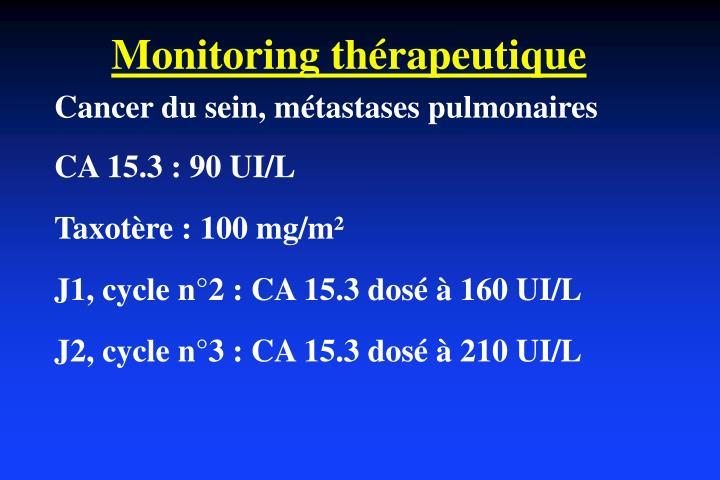 Monitoring thérapeutique