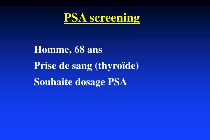 PSA screening