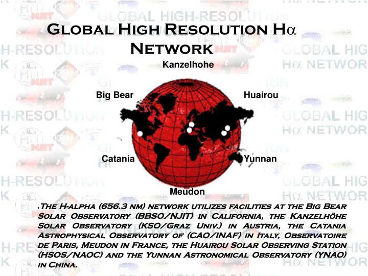 Global High Resolution H
