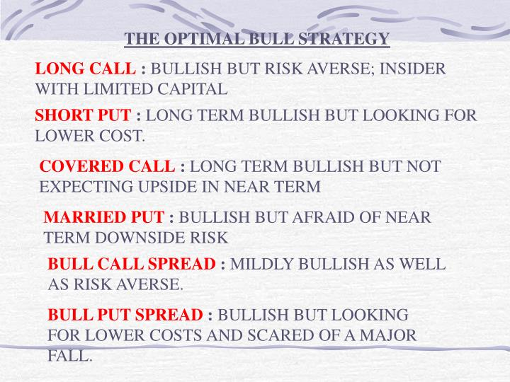 THE OPTIMAL BULL STRATEGY