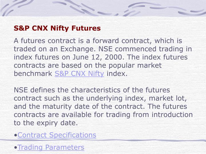 S&P CNX Nifty Futures