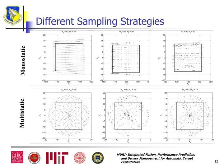 Different Sampling Strategies