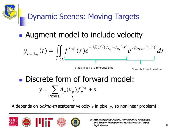 Dynamic Scenes: Moving Targets