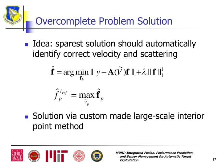 Overcomplete Problem Solution