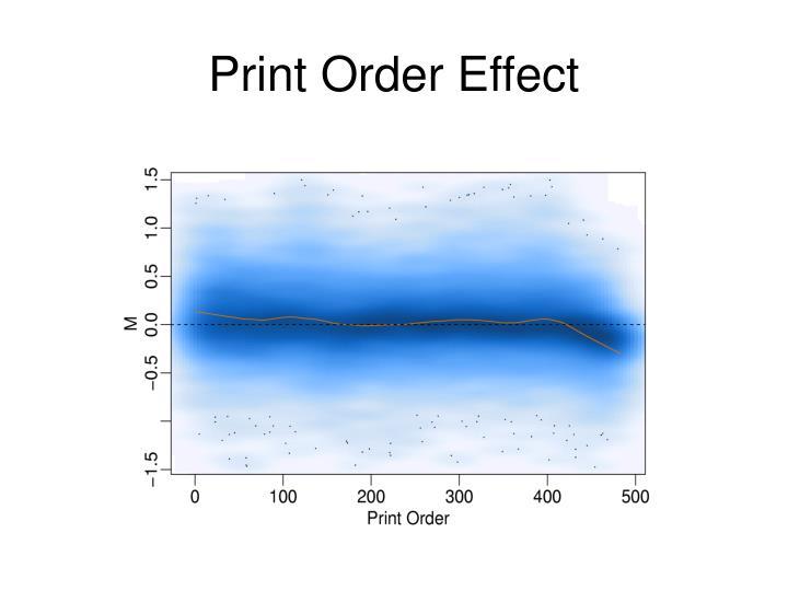 Print Order Effect