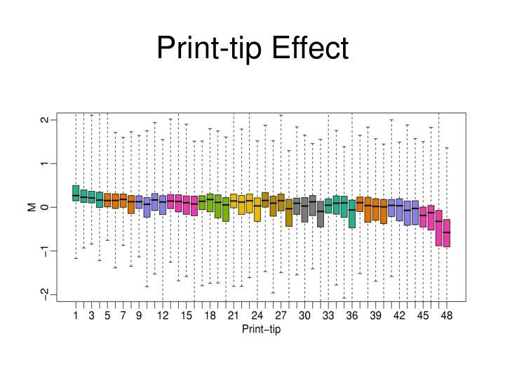 Print-tip Effect