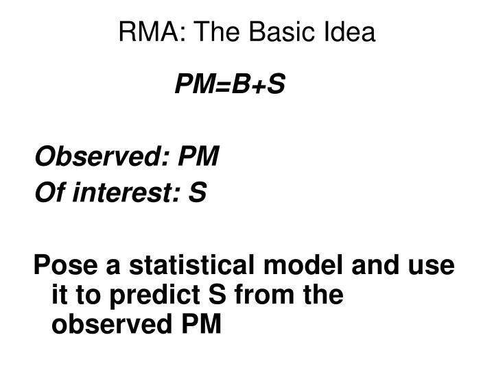 RMA: The Basic Idea