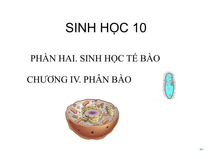 SINH HỌC 10