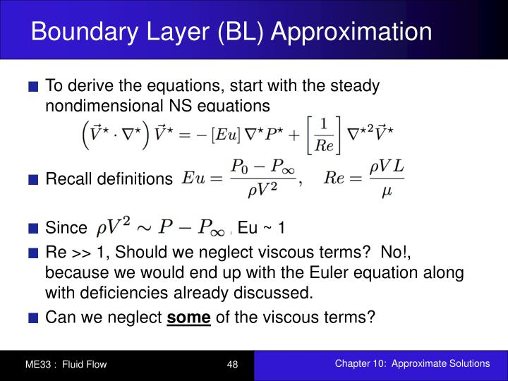 Boundary Layer (BL) Approximation
