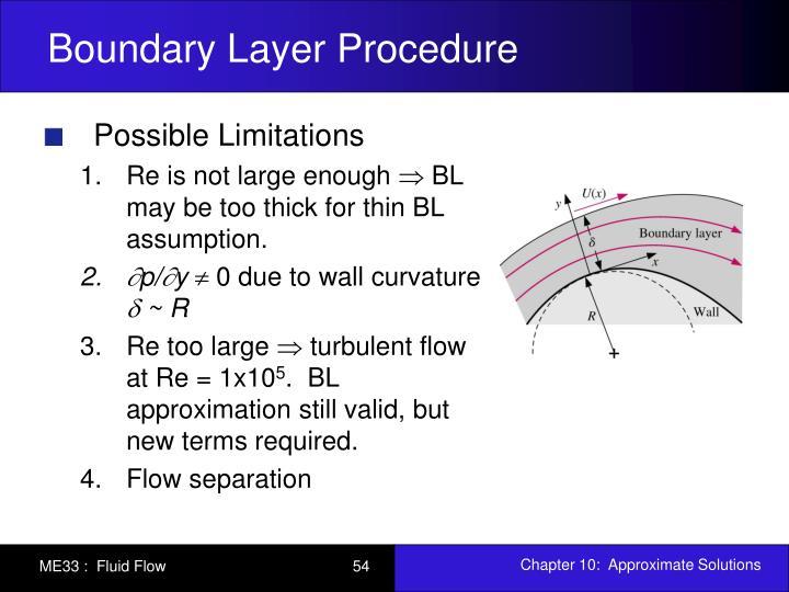 Boundary Layer Procedure