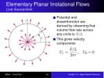 elementary planar irrotational flows line source sink