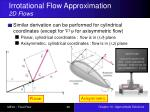 irrotational flow approximation 2d flows2