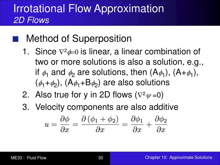 Irrotational Flow Approximation
