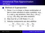 irrotational flow approximation 2d flows4