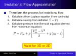 irrotational flow approximation8