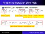 nondimensionalization of the nse4