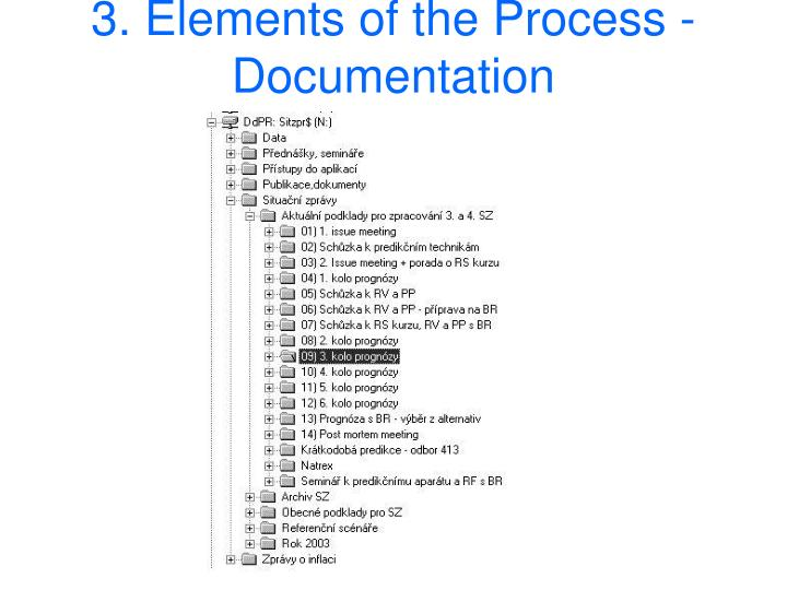 3. Elements of the Process -