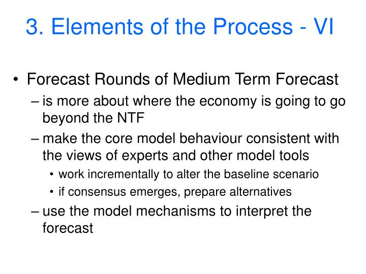 3. Elements of the Process - VI